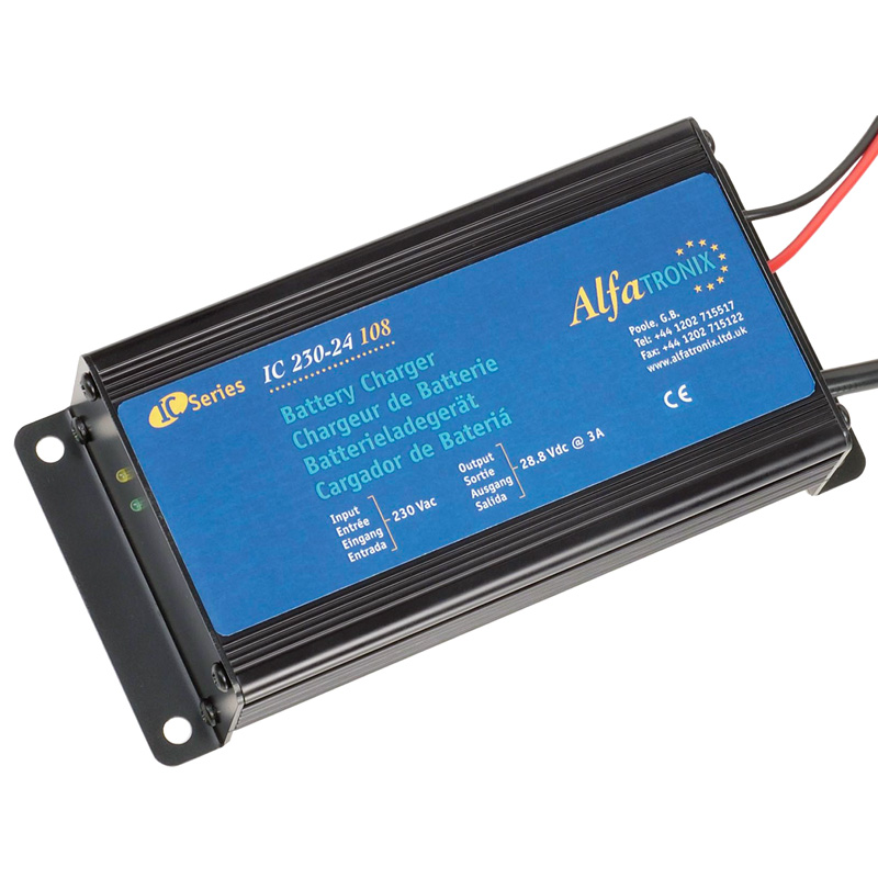 Alfatronix Ic 230-24 108 Ac-dc Intelligent Battery Charger - 230vac To 24vdc - 3a / 108w