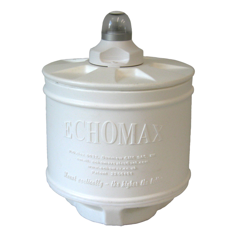 Echomax Em230bmchl Base Mount - Compact 9 Inch Radar Reflector With Hella Led All Round White Nav Light