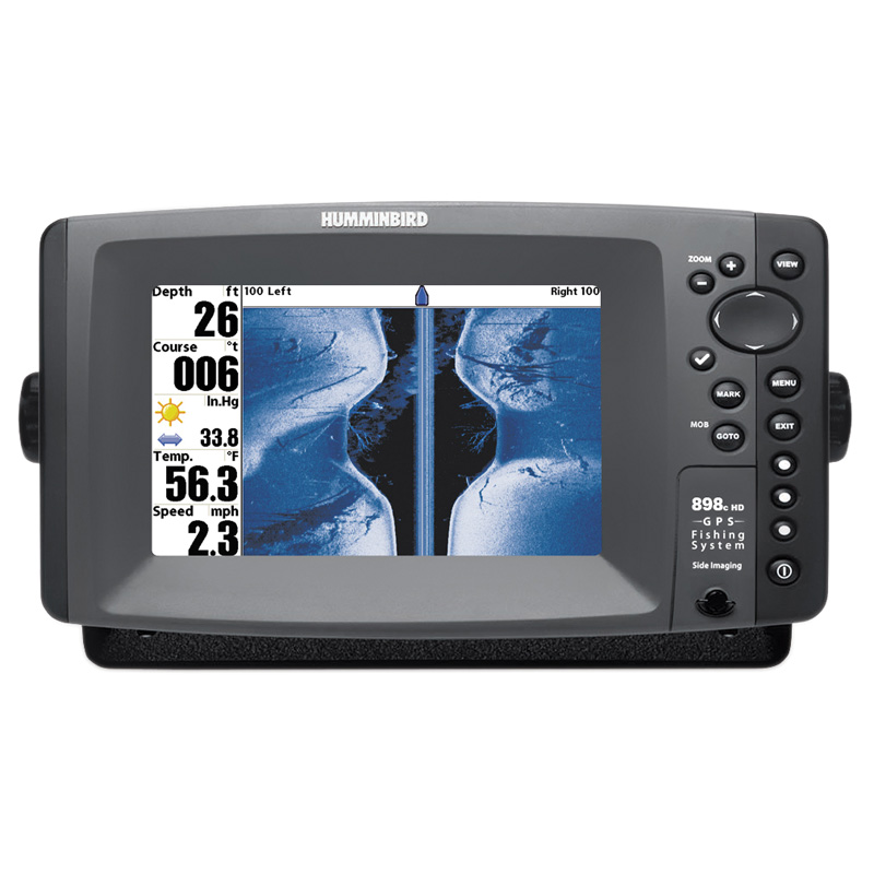 Humminbird 898cx HD SI Combo - GPS / CPlotter / Sonar - Col  - Side / Down Imaging c/w Dual beam Txd -  Ext GPS Ant