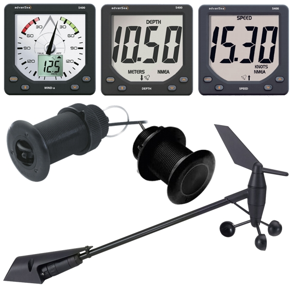 Advansea S400 Wind / Speed / Depth Instrument System Bundle
