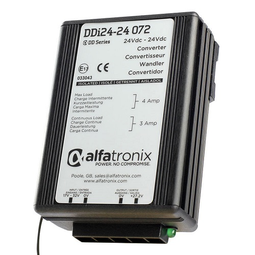 Alfatronix Ddi24-24 072 Converter Dc To Dc Multi Selection - 24vdc To 24vdc 3a Continuous 4a Intermittent