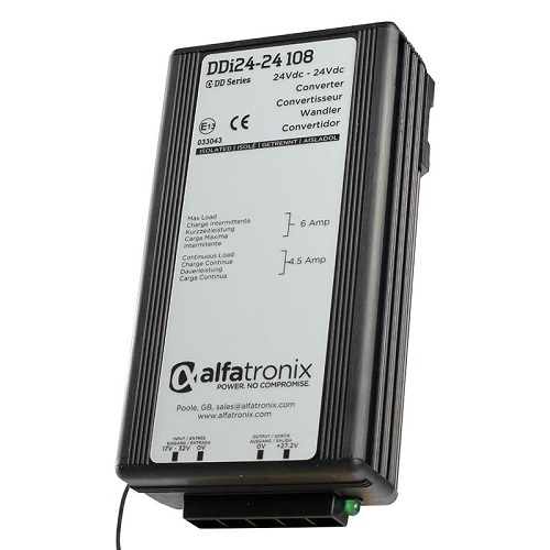 Alfatronix Ddi24-24 108 Converter Dc To Dc Multi Selection - 24vdc To 24vdc 4.5a Continuous 6a Intermittent