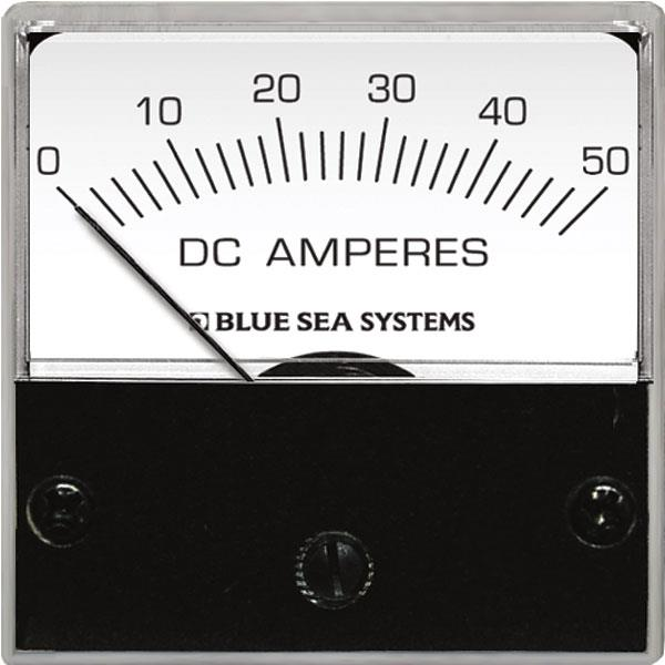 Blue Sea Ammeter Micro 0-50a Dc Ext Shunt