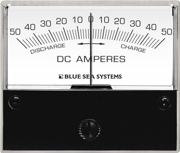 Blue Sea Analog Ammeter Dc 50-0-50 2.75inch