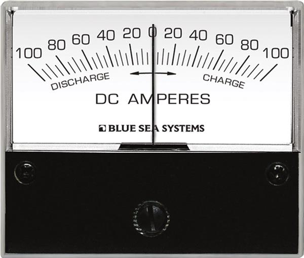 Blue Sea Analog Ammeter Dc 100-0-100 2.75inch