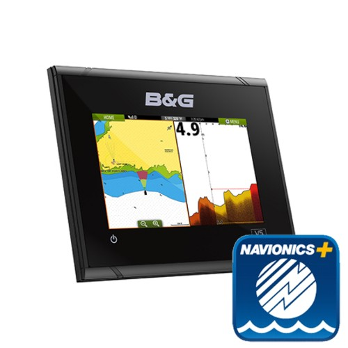 B&G Vulcan5 FS 5-Inch Multi-Touch Chartplotter with Built In Forward Looking Sonar With EMEA Navionics Plus Chart - No Transduce