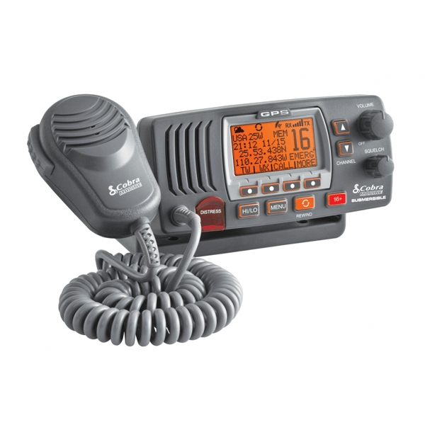 Cobra F77 Fixed VHF Marine Radio With GPS (Black)