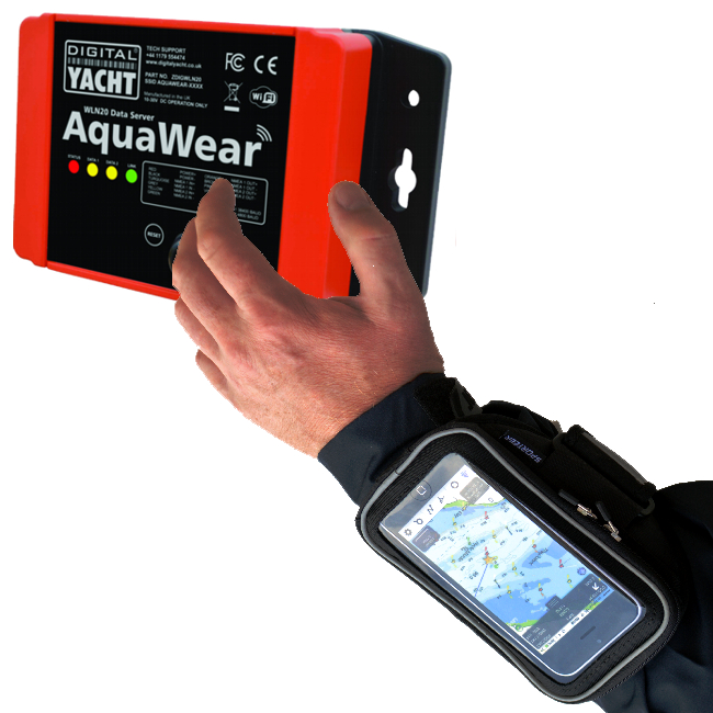 Digital Yacht AquaWear WLN20 Wireless Data Gateway with Wrist Case