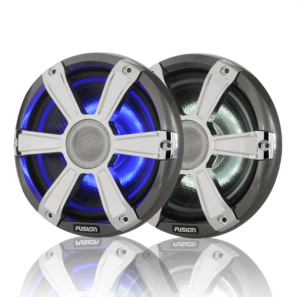 Fusion SG-FL77SPC 7.7 Inch Marine High Performance Loudspeaker with Chrome grill + LED lighting