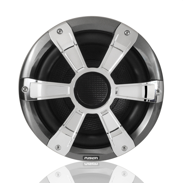 Fusion SG-SL10SPC 10 Inch Marine Signature Sports Subwoofer – Chrome/Grey - LED