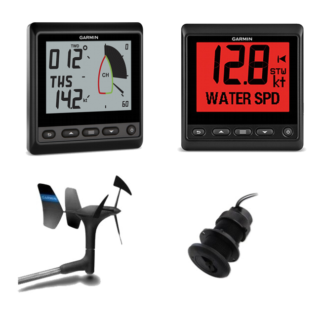 Garmin Wireless gWind Plus Depth & Speed Pack Inc GNX20 and GNX Wind