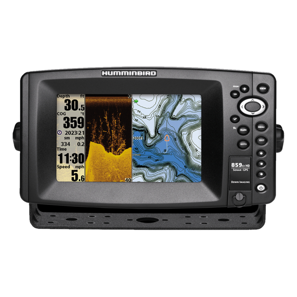 Humminbird 859cxi HD DI Combo - GPS / Plotter / Sonar - Col - Down Imaging c/w Dual Beam Txd - Temp / speed