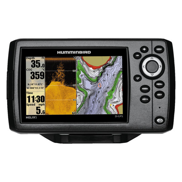 Humminbird HELIX 5 DI Combo - GPS / Plotter / Sonar - Col - Down Imaging - c/w Dual beam Txd - Temp / Speed -  Int GPS