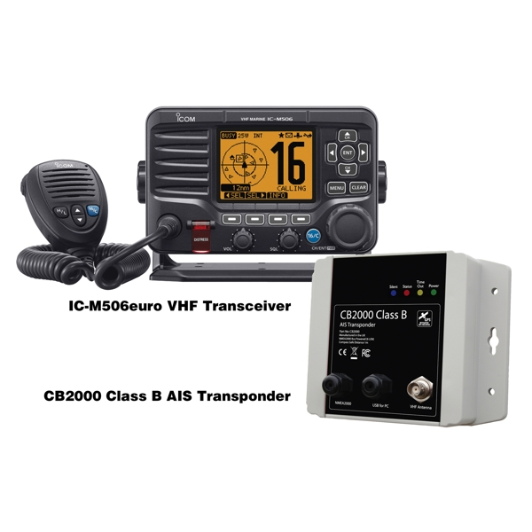 Icom M506 Euro Fixed VHF with CB2000 Class B AIS Add On