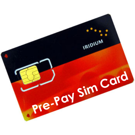 Iridium Unregistered Pre-Paid SIM Card