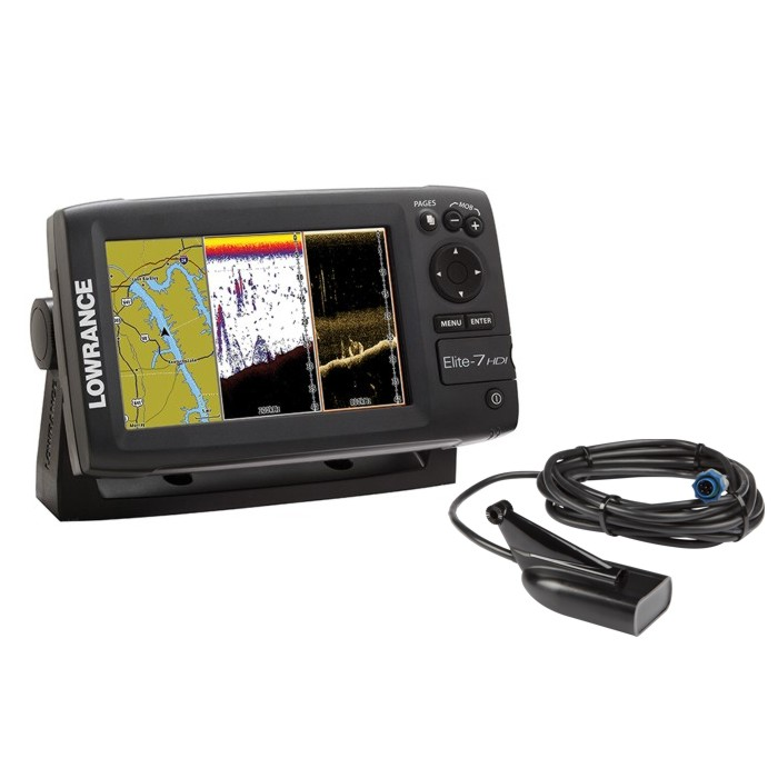 Lowrance ELITE-7 HDI fishfinder/chartplotter EMEA Download Kit & XDCR 83/200 455/800