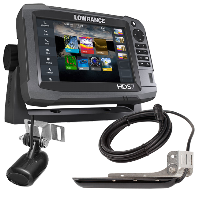 fishfinders lowrance hds 7 gen3 plotter sounder with 83 200 lss structure scan tr. Black Bedroom Furniture Sets. Home Design Ideas