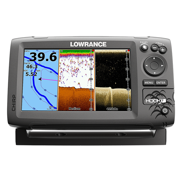 Lowrance Hook-7 Fishfinder / Chart Plotter With Mid/High / DownScan TM Transducer