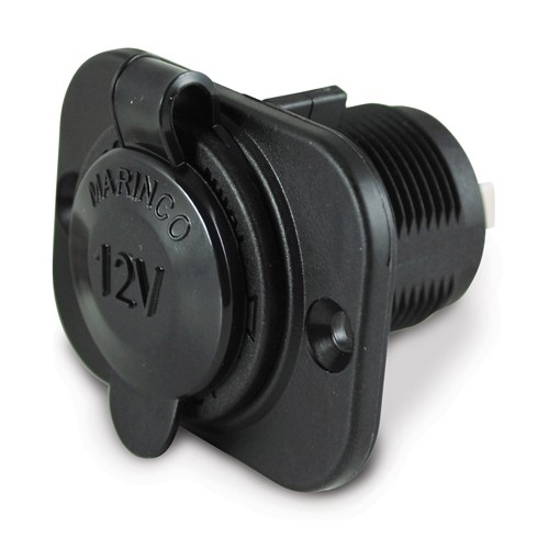 Marinco Sealink Deluxe Socket 12V Black