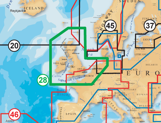 Navionics Gold XL9 CF Format 28X UK And Ireland