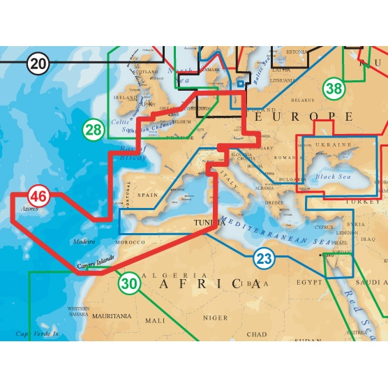 Navionics Gold XL9 CF Format 46X France Iberia And Inland Waters