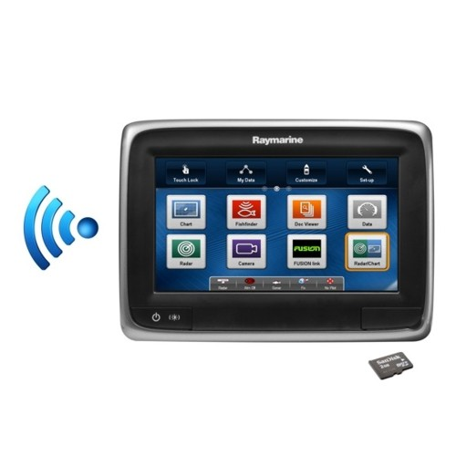 Raymarine A75 7 Inch Touchscreen Mfd C/w Wi-fi � Eu/row Small Gold Download Chart