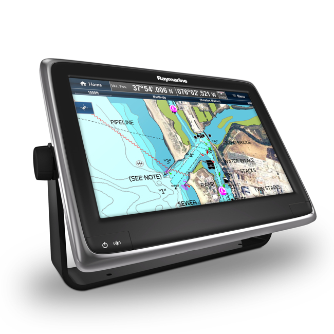 Raymarine A125 12 Inch Multifunctional Display with Wi-Fi and European Wide Silver Chart