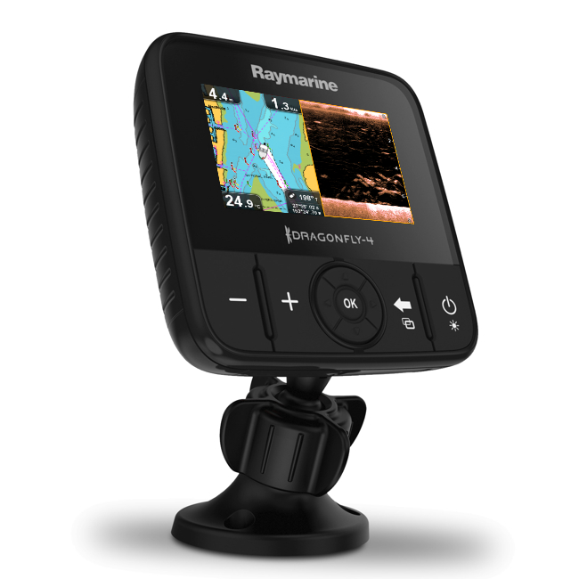Raymarine Dragonfly 4 PRO 4 Inch Plotter/ DownVision / Chirp Sonar With Navionics EU Charts & TM TR