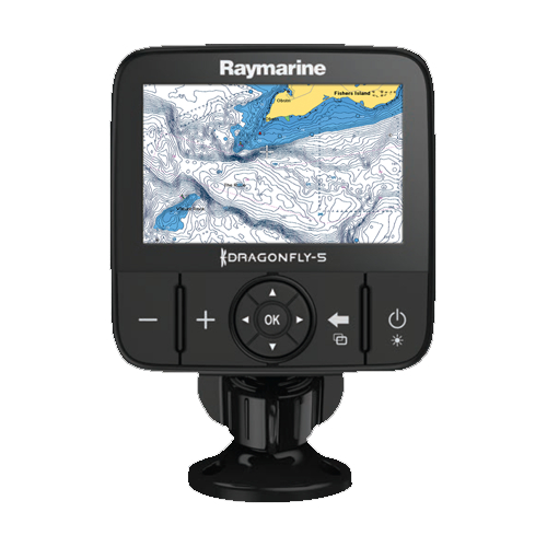 Raymarine Dragonfly 5M 5 Inch Colour Chart Plotter With GPS & Navionics Siilver EU Charts