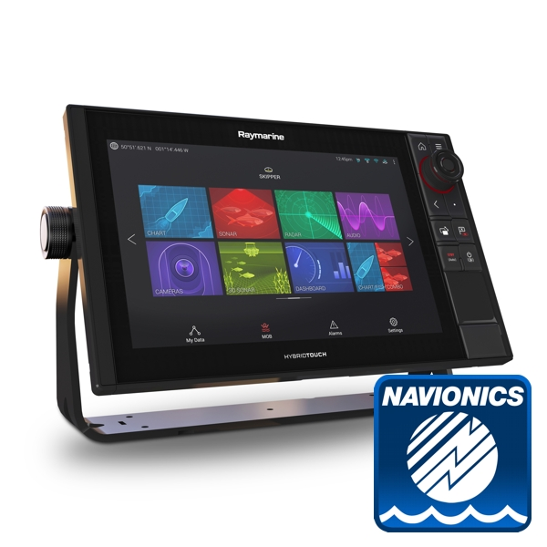 Raymarine Axiom 12 Pro-RVX HybridTouch 12 Inch MFD with intergrated 1kW Sonar. DV.SV and RV 3D Sonar cw Nav+ Small DL