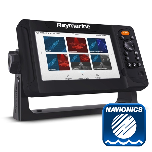Raymarine Element 7S Plotter / Chirp Sounder With Navionics PLUS Small Chart (No Transducer)