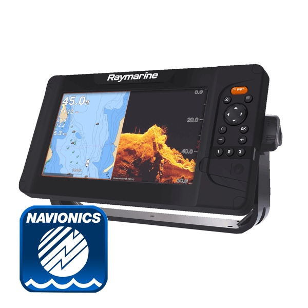 Raymarine Element 9S Plotter / Chirp Sounder With Navionics PLUS Small Chart (No Transducer)