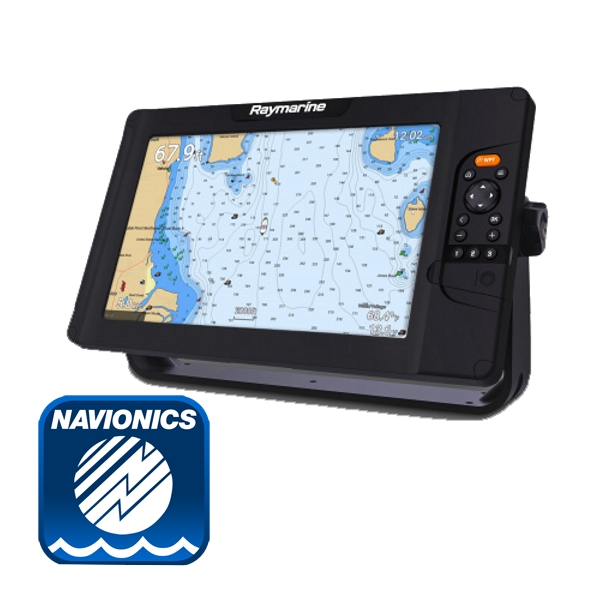 Raymarine Element 12S Plotter / Chirp Sounder With Navionics PLUS Download Chart (No Transducer)