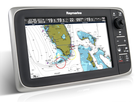 RAYMARINE C97 PLOTTER-SOUNDER - WITH ROW CARTOGRAPHY