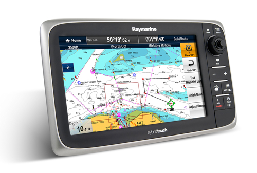 Raymarine E127 Hybrid Touch Plotter-sounder - With Row Cartograp