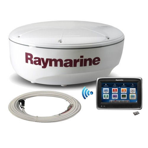 Raymarine A75 7 Inch Mfd With Wi-fi, Gold Download Chart, 4kw 18 Inch Digital Radome - 10m Radar Raynet Cable