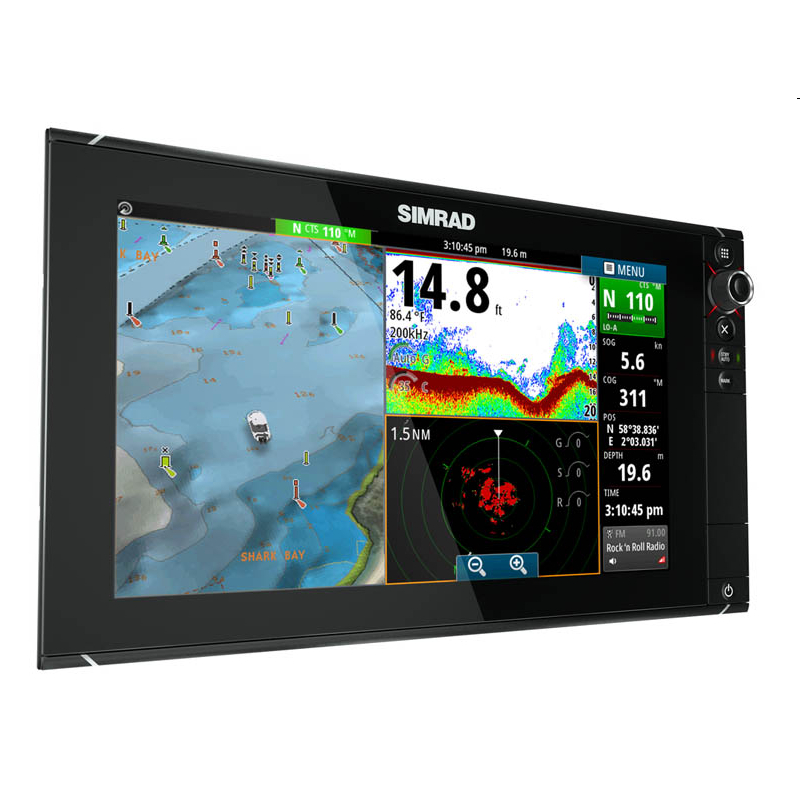 Simrad NSS16 evo2 Combi Display Built-in CHIRP Echosounder and StructureScan