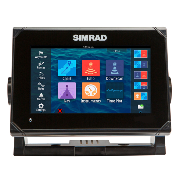 Simrad GO7 7Inch Multi-touch chart plotter with built in Echosounder (No Transducer)