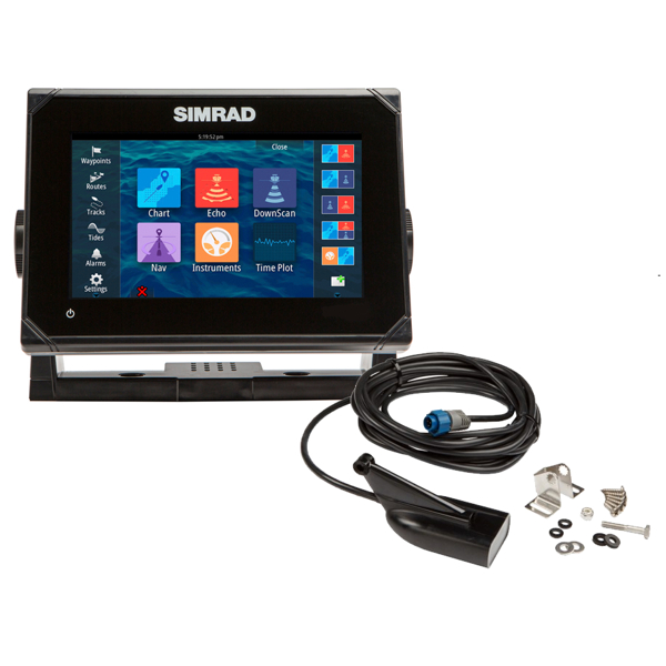 Simrad GO7 7Inch Multi-touch chart plotter with built in Echosounder with 83/200 455/800 KHz HDI Transducer