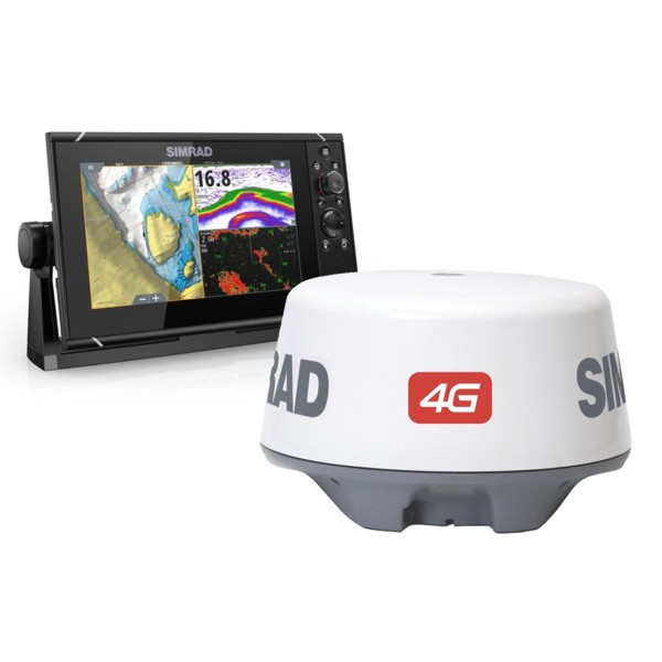Simrad NSS9 evo3 9 Inch Display & Broadband 4G Radar With World Basemap