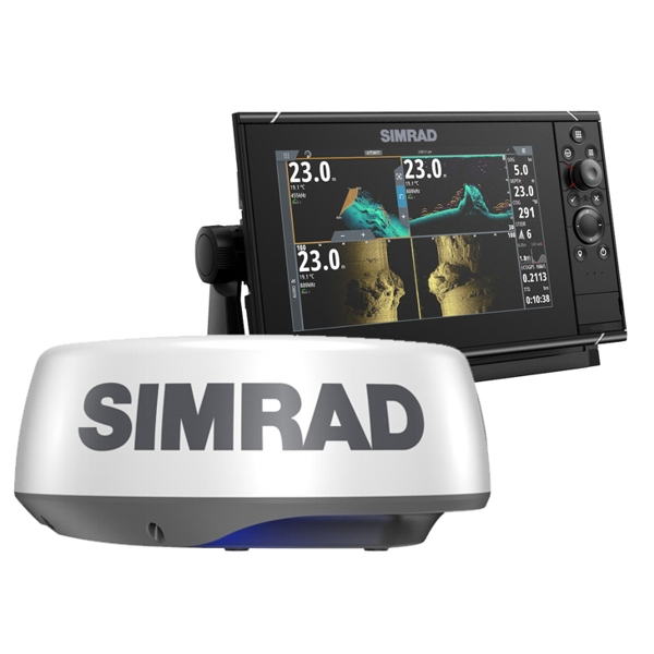 Simrad NSS9 evo3s 9 Inch MFD With World Base Map And Halo 20+ Radar Bundle