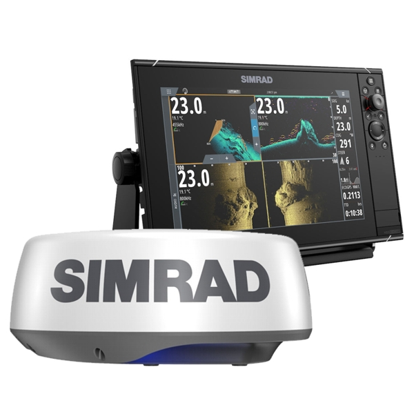 Simrad NSS12 evo3s 12 Inch MFD With World Base Map And Halo 20+ Radar Bundle