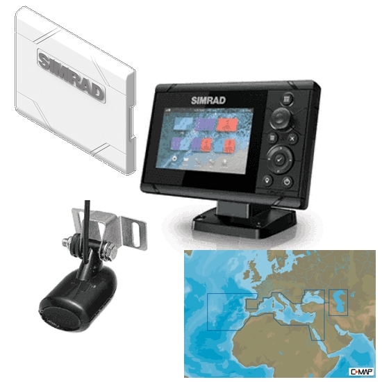 Simrad Cruise 5 Plotter / Sounder Southern Europe Bundle Pack