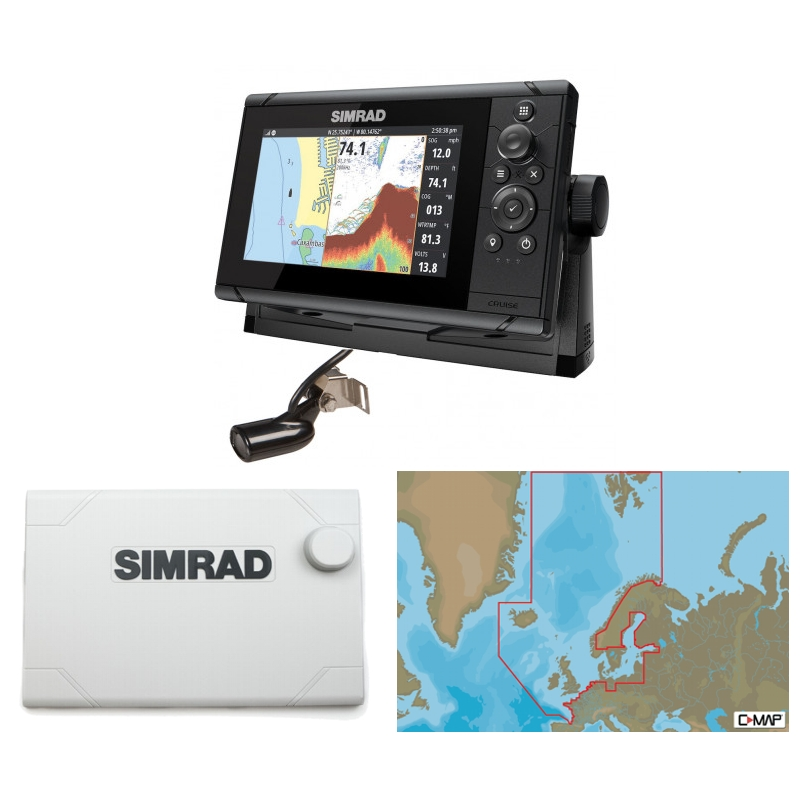 Simrad Cruise 7 Plotter / Sounder Northern Europe Bundle Pack