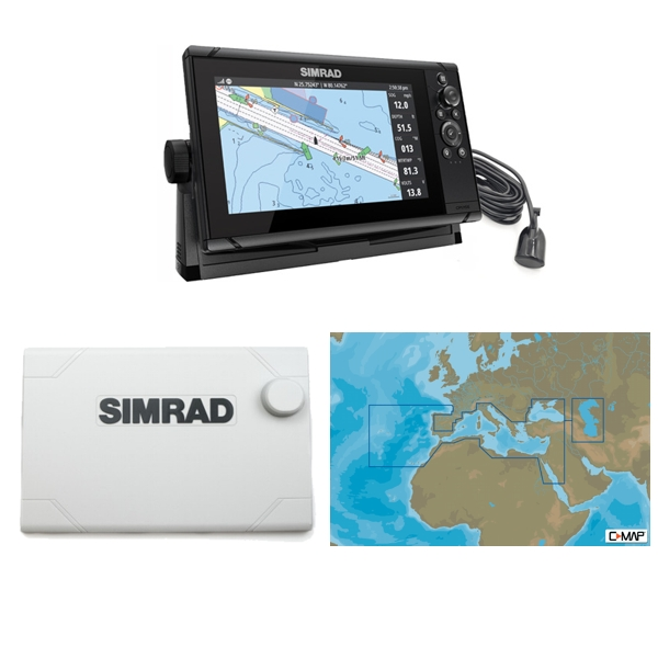 Simrad Cruise 9 Plotter / Sounder Southern Europe Bundle Pack