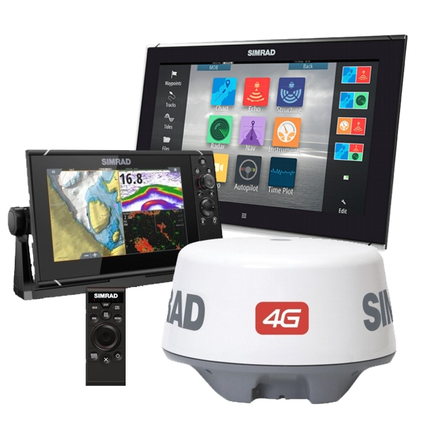 Simrad NSS9 Plus 4G Radar with 16 Inch Dual Station Display and Remote Keypad