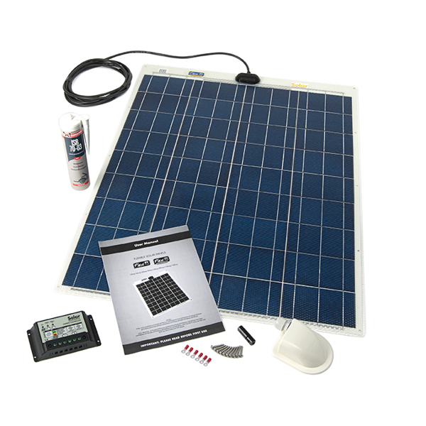 Flexible Solar Panel 80W 12v - Roof / Deck Kit