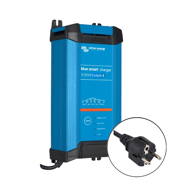 Victron Blue Smart IP22 Charger 12v/20a (3 outputs) Euro Plug