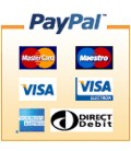 We accept payment by all major credit cards via PayPal