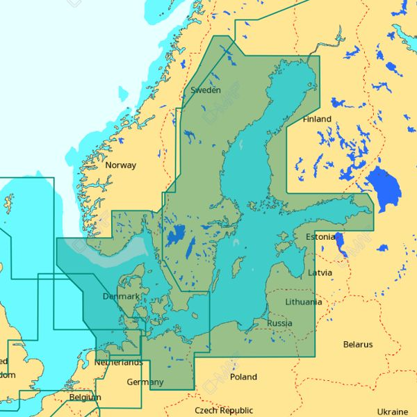 C-MAP 4D Wide Area - Baltic Sea & Denmark
